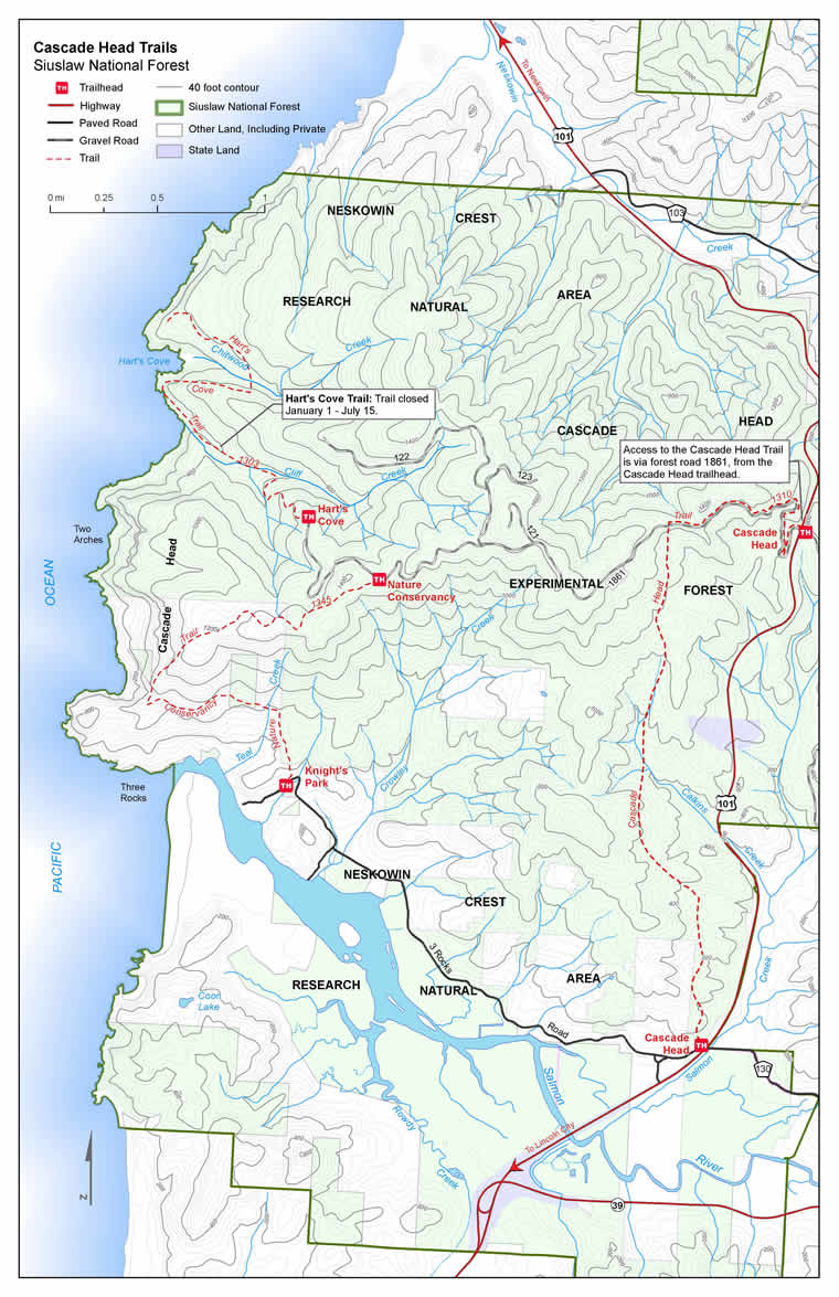 Siuslaw National Forest Trail Maps on