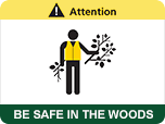 Attention: Be safe in the woods.
