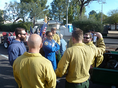 Wildland firefighters from the Payson Ranger District, Tonto National Forest