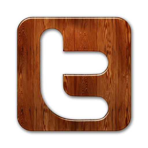 Wooden Twitter Graphic