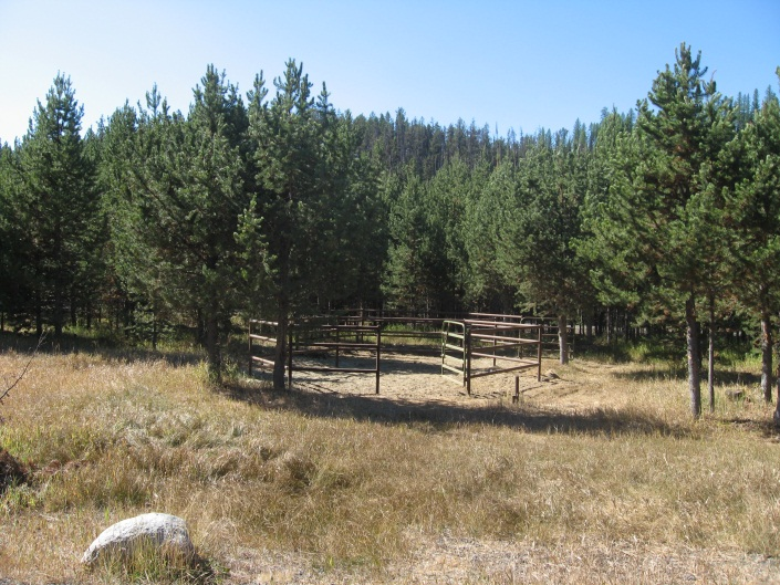 Horse Corrals at North Fork John Day Campground and Trailhead