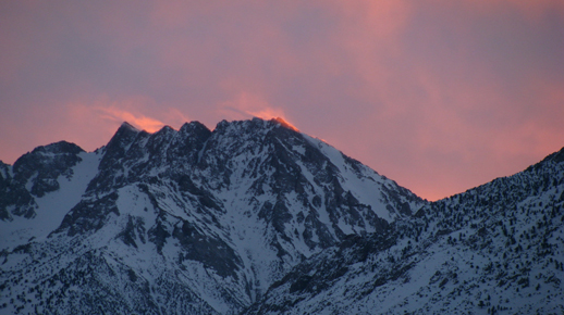 Alpine Glow and Spindrift