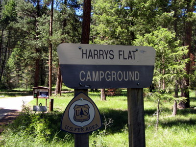 Harry's Flat Campground Sign