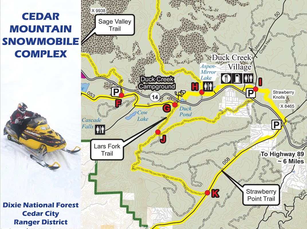 Cedar City RD Snowmobile Map Image