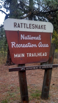 Rattlesnake NRA Main Trailhead Sign