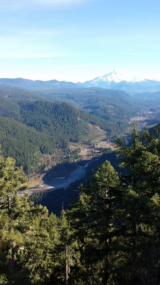 North Santiam River from Stahlman Point