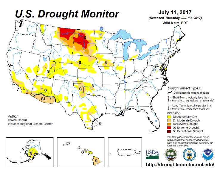 US Drought Monitor Climate Change Resource Center