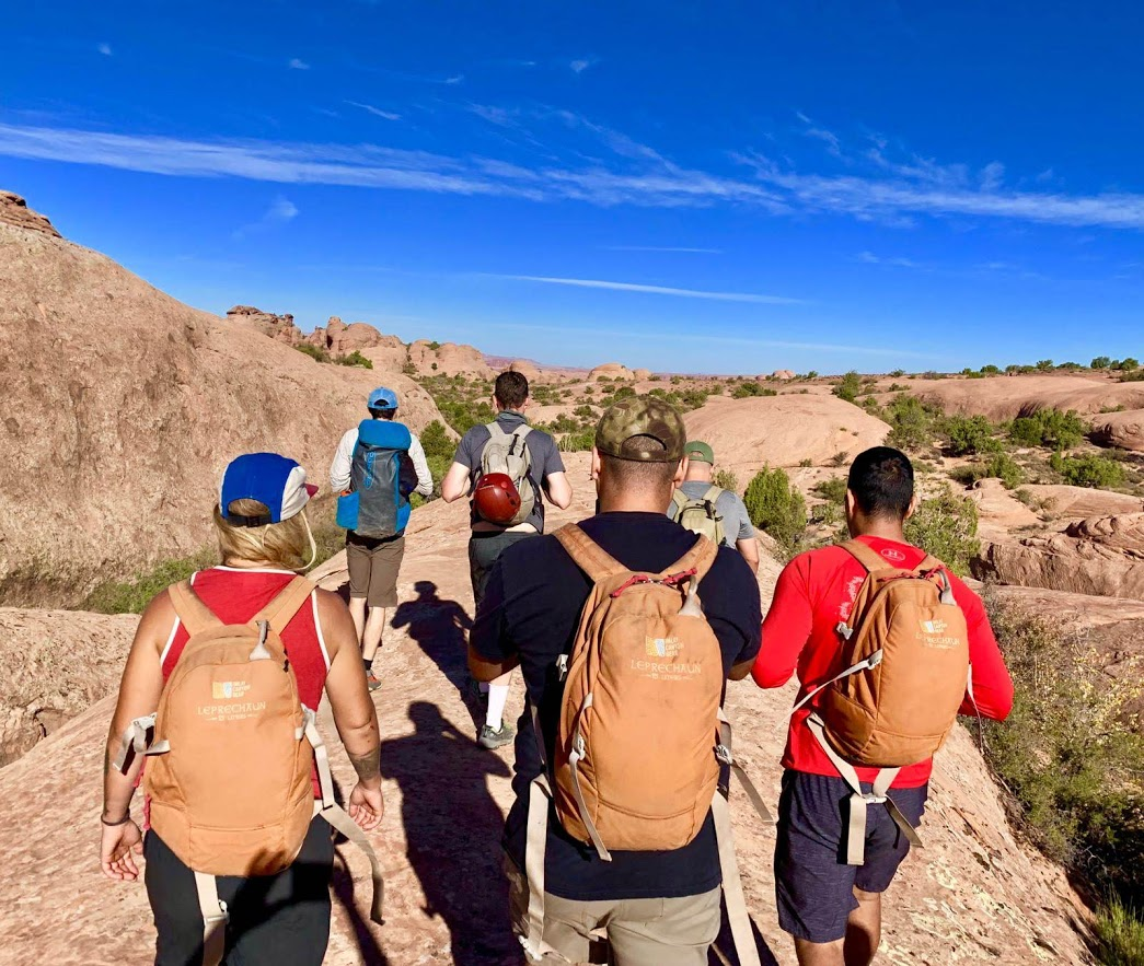 Veterans group on a hike. Photo courtesy of Sarah Martin.