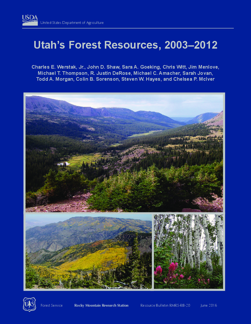 Utah's forest resources, 2003-2012