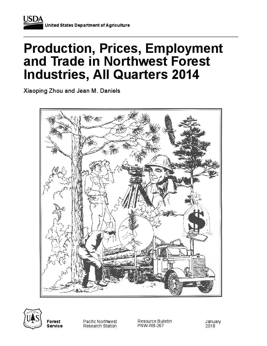 Production, prices, employment, and trade in Northwest forest industries, all quarters 2014