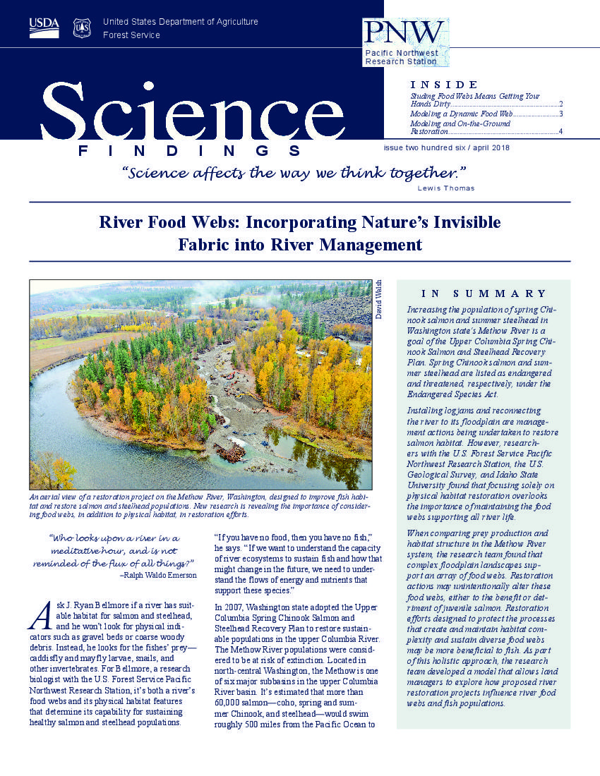 River food webs: Incorporating nature's invisible fabric into river management