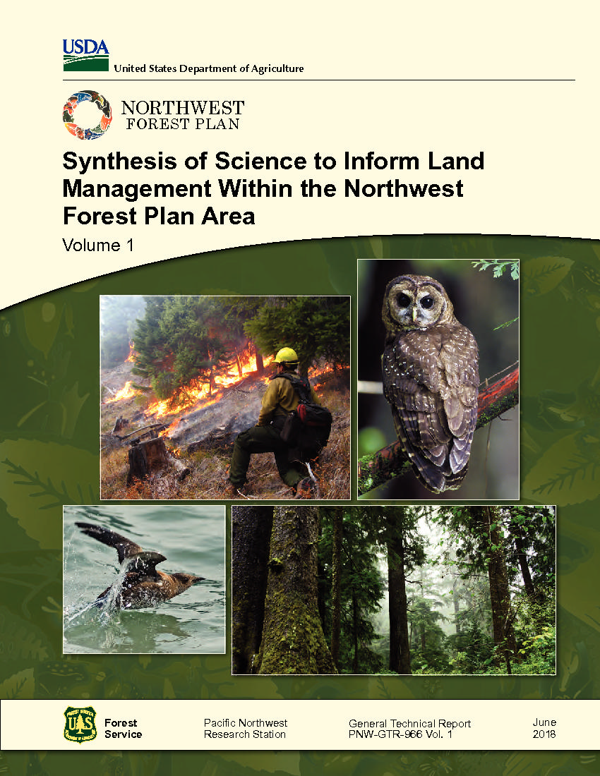 Image result for Synthesis of science to inform land management within the Northwest Forest Plan area