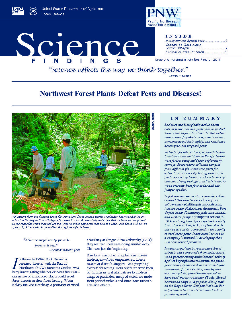 Northwest forest plants defeat pests and diseases!