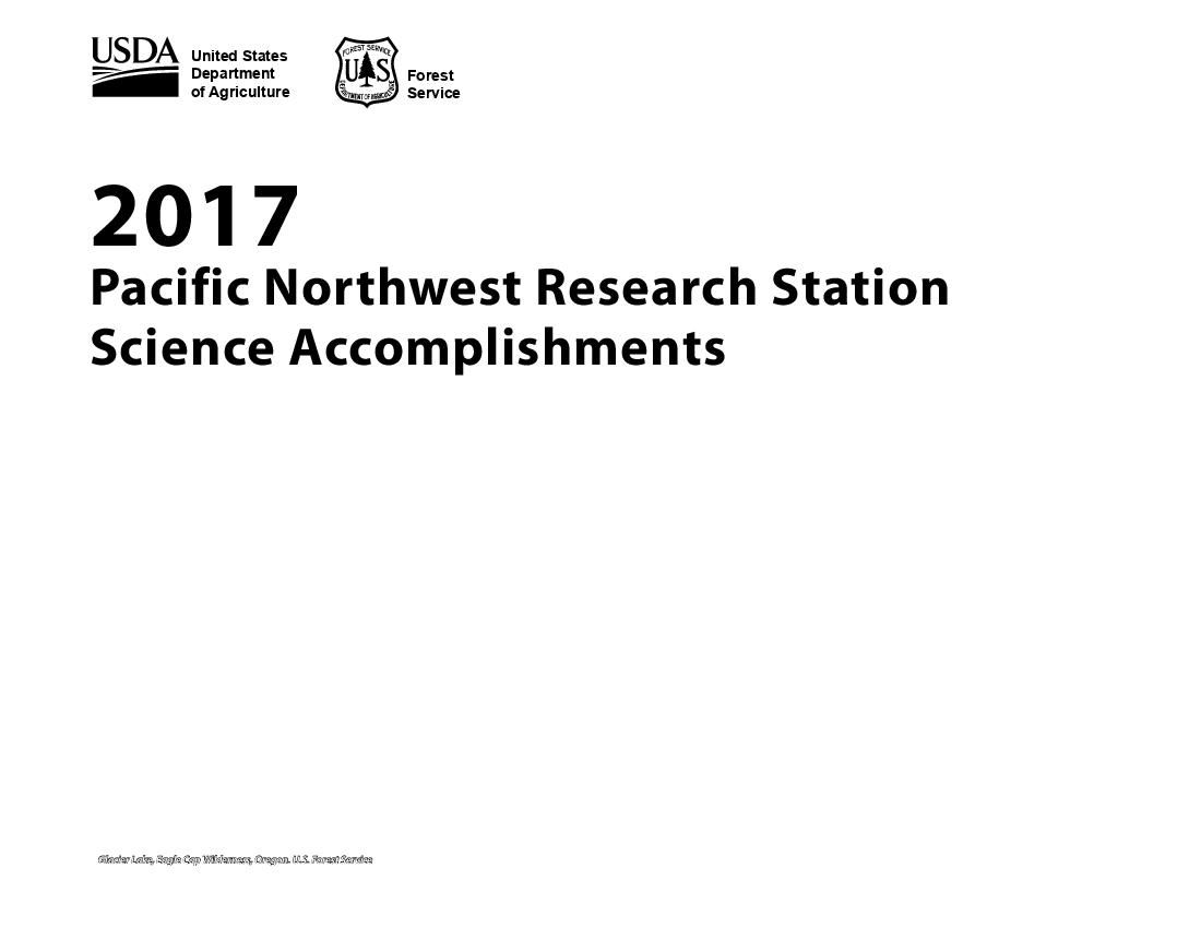 2017 Science Accomplishments Report of the Pacific Northwest Research Station