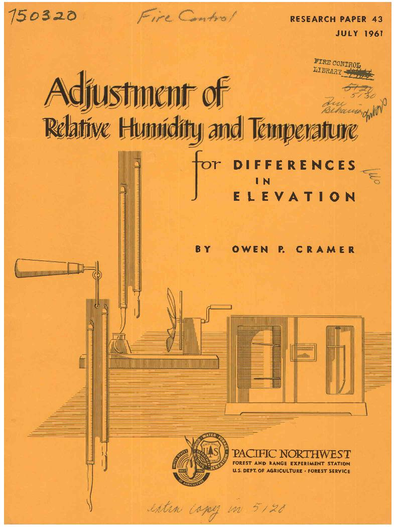 adjustment of relative humidity and temperature for differences in