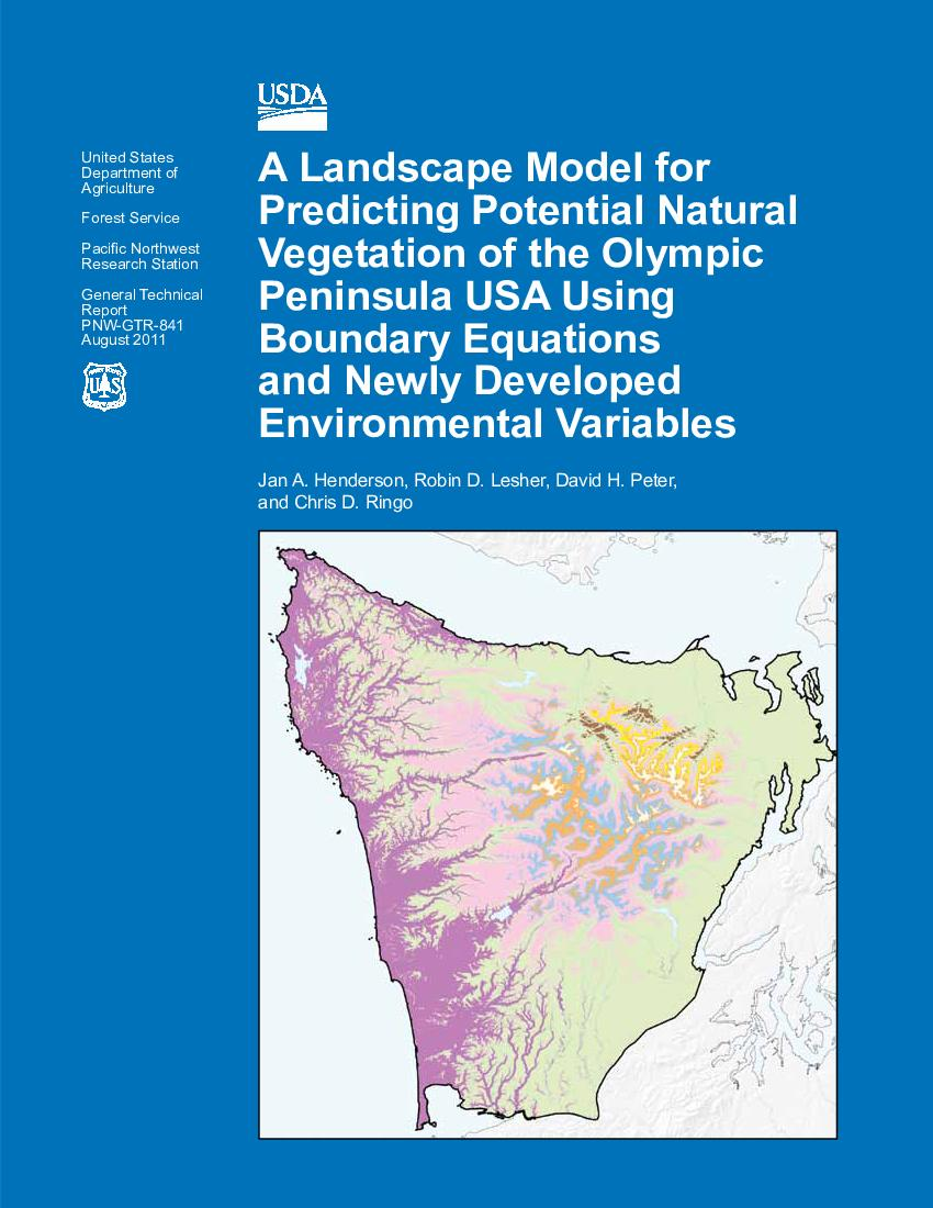 A landscape model for predicting potential natural ...