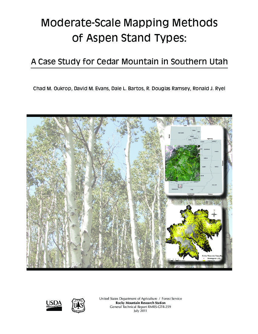 Moderate-scale mapping methods of aspen stand types: a case