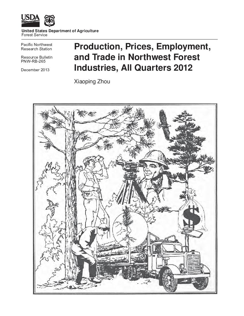 Production, prices, employment, and trade in Northwest forest industries, all quarters 2012