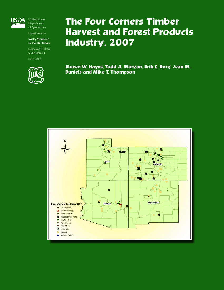 The Four Corners timber harvest and forest products industry, 2007