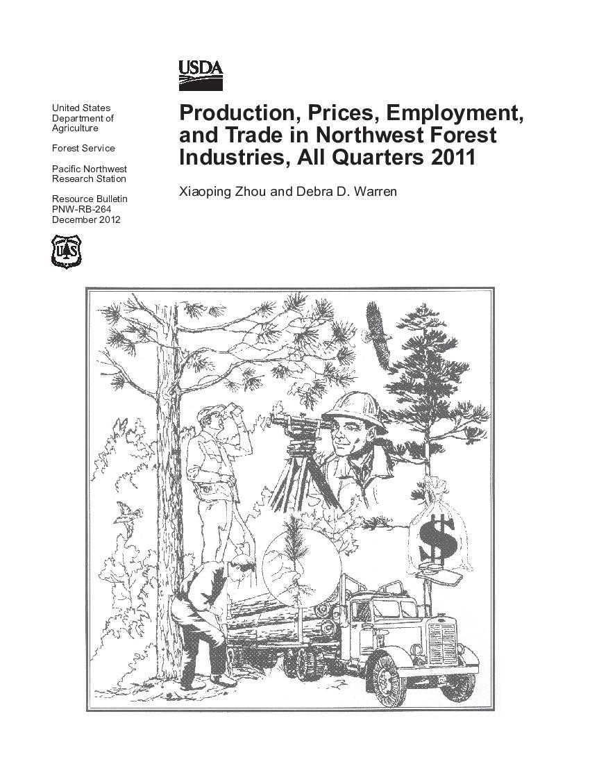 Production, prices, employment, and trade in Northwest forest industries, all quarters 2011