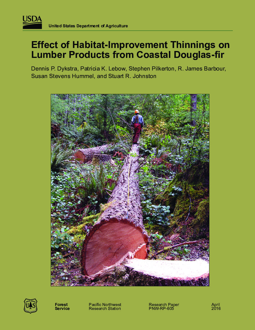 Effect of habitat-improvement thinnings on lumber products from coastal Douglas-fir