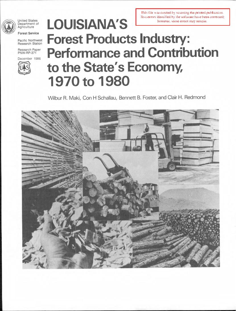 Louisiana's <span style='background: #bae894;'>Forest Products</span> industry: performance and contribution to the State's economy, 1970 to 1980.