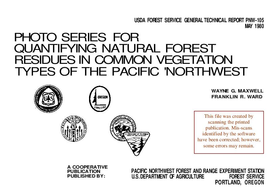 Photo series for quantifying natural forest residues in