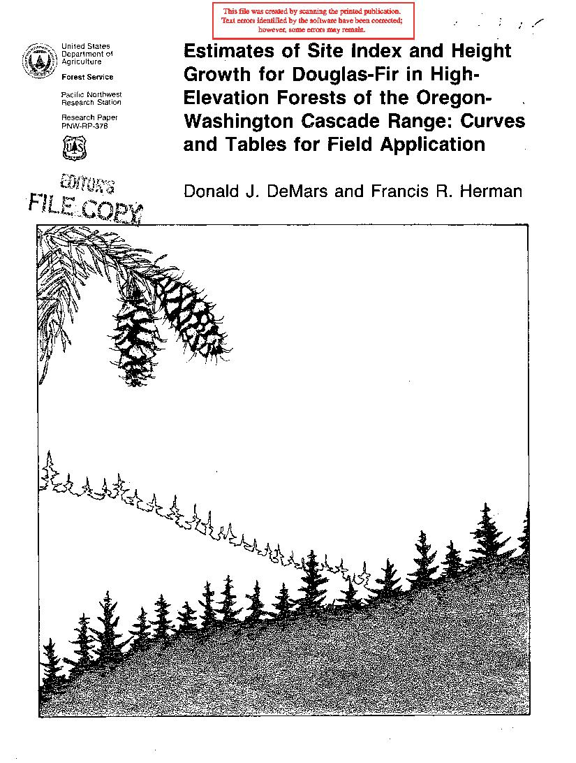 Estimates of site index and height growth for Douglas-fir in