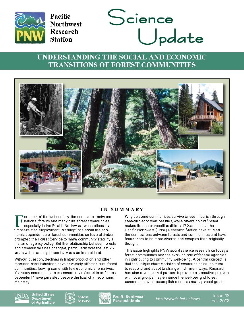 Understanding the social and economic transitions of forest communities.