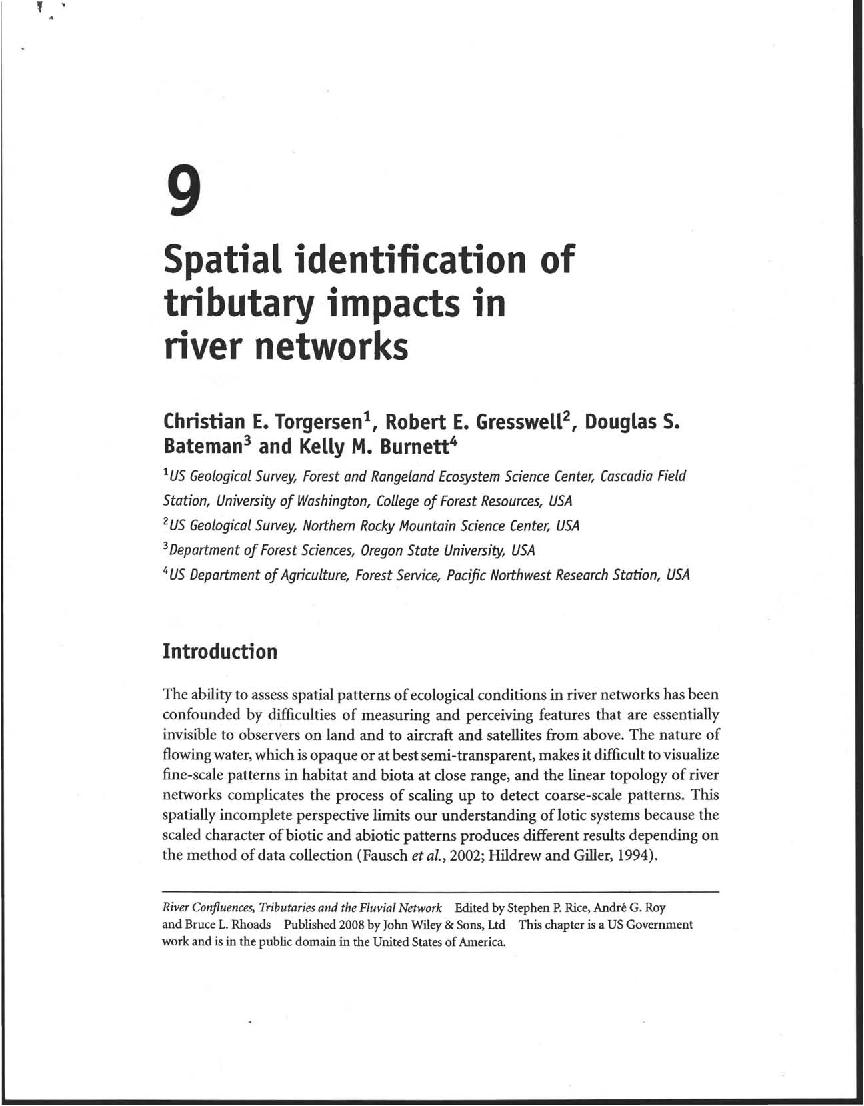 Spatial identification of tributary impacts in river