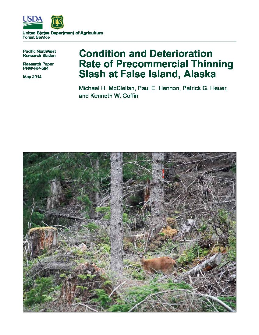 Condition and deterioration rate of precommercial thinning slash at False Island, Alaska.