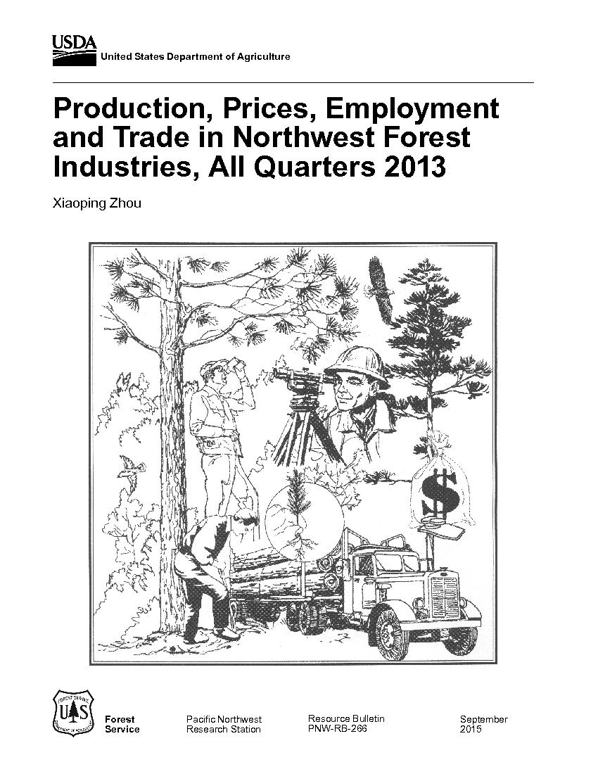Production, prices, employment, and trade in Northwest forest industries, all quarters 2013