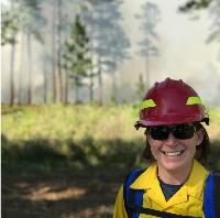 Alina at a prescribed fire in longleaf pine, Tall Timbers Research Station, FL