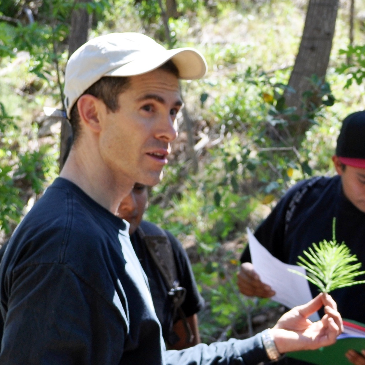 Jonathan Long Instructing On Plant Identification