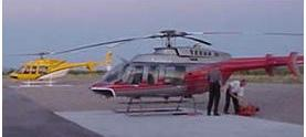 Photo of Wildland firefighting helicopter.  Cibola National Forest