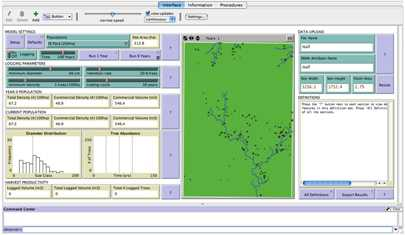 Photo of Screen shot from the Big Leaf Mahogany Growth and Yield Model found at  <a href=http://www.swietking.org target=_new>www.swietking.org</a>