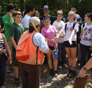 Photo of Project SMART provides opportunities for students to conduct hands-on research in environmental sciences. Stephanie Meyer, Forest Service