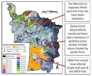 Photo of Simulations show where fires would have spread and reveal hidden consequences of suppression. Forest Service