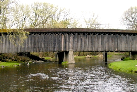 Photo of The Cedarburg Covered Bridge, WI was one of the bridges included in this study. Stan Lebow, Forest Service