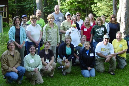 Photo of Eighteeen educators, administrators and community members participated in Wisconsin's first replication of Forest For Every Classroom. Barbara McGuinness, Forest Service