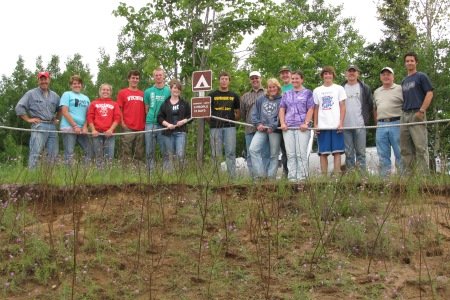 Photo of Northwoods Environmental Scholars group. Forest Service
