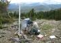 Photo of Portable ozone monitor at Trout Creek Pass, Colorado.  Forest Service