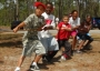 Photo of Children join in a game of tug of war. Forest Service