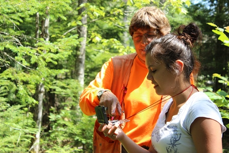Photo of The Discover the Forest and earth camps attracted diverse candidates from across the Northeastern United States. Kyle Lolar