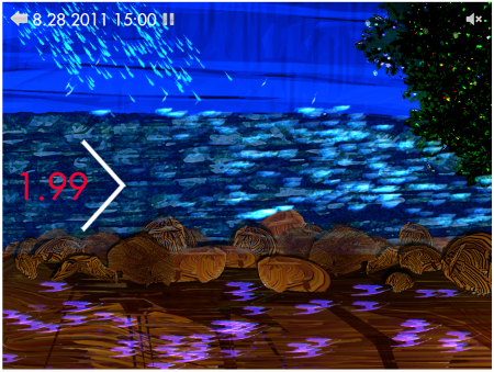 Photo of A screen shot of the WaterViz visualization. USDA Forest Service