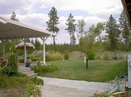 Photo of Idaho home with defensible space fostered by an incentive program. Sarah McCaffrey, USDA Forest Service