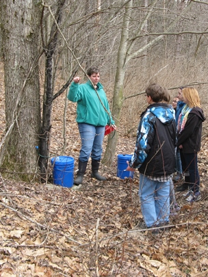 Photo of Students get outdoor instruction as part of the Go Green Club. Nikka Labella, Bradford Area School District