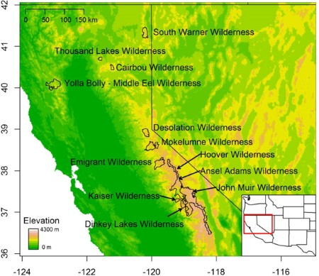 Vulnerability of High Elevation Lakes of the Sierra Nevada to