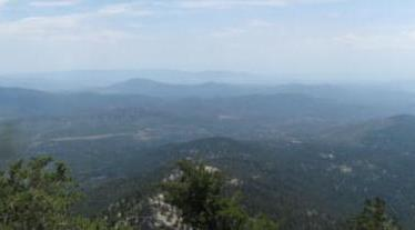 Photo of Scenic views from San Jacinto Wilderness, San Bernardino National Forest. José J. Sánchez, USDA Forest Service
