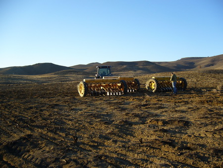 Photo of Rehabilitation seeding after a wildfire to restore a Wyoming big sagebrush community. Chad Boyd, USDA Agricultural Research Service